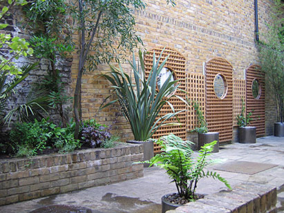 Click here for details of a garden with exotic planting in greenwich